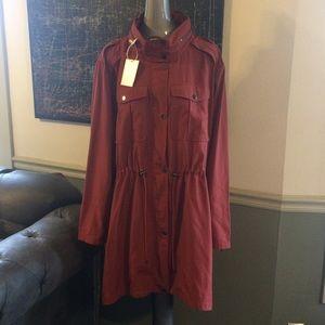 "f0b2d2f30d0 Badgley Mischka Jackets   Coats - Badgley Mischka ""Dakota"" Raincoat in Spice"